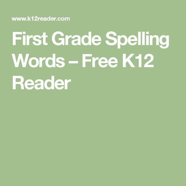 Worksheet 5 Grade Spelling Words K12 Reader 17 first grade spelling words free 1st weekly list worksheets