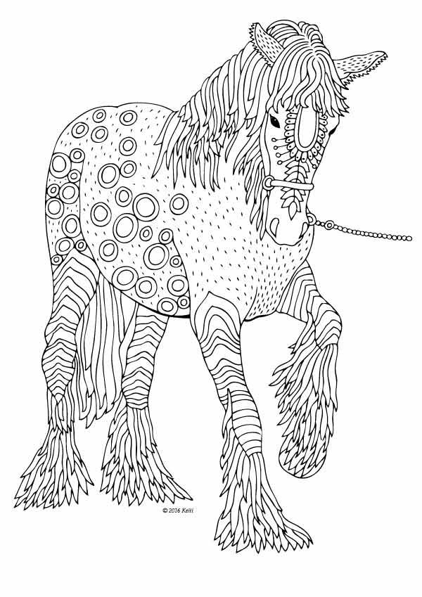 Coloring pages Horse Printable Adult Coloring book by ValrArt ...