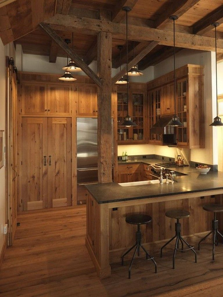 30+ Rural Farmhouse Barn Wood Kitchen Ideas | Rustic house ... on Rustic:yucvisfte_S= Farmhouse Kitchen Ideas  id=47864