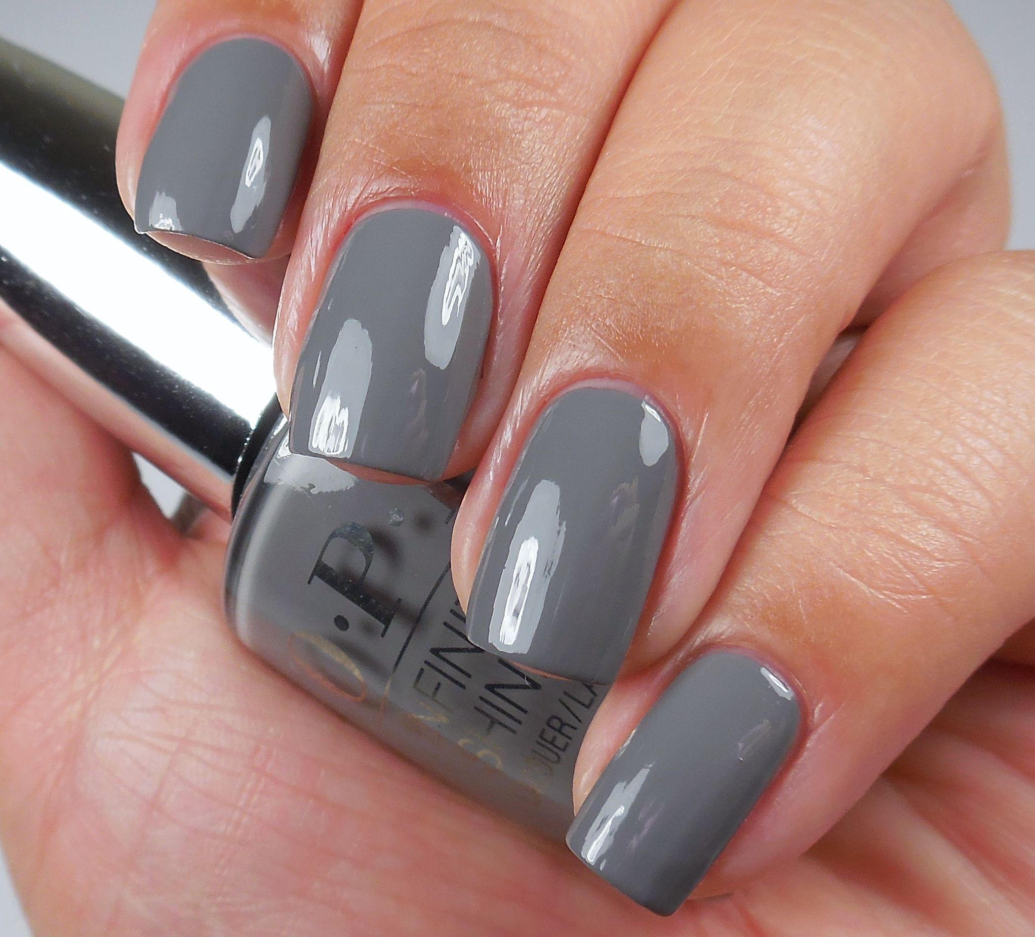 Opi Infinite Shine Steel Waters Run Deep A Long Wearing Grey Creme Nail Polish