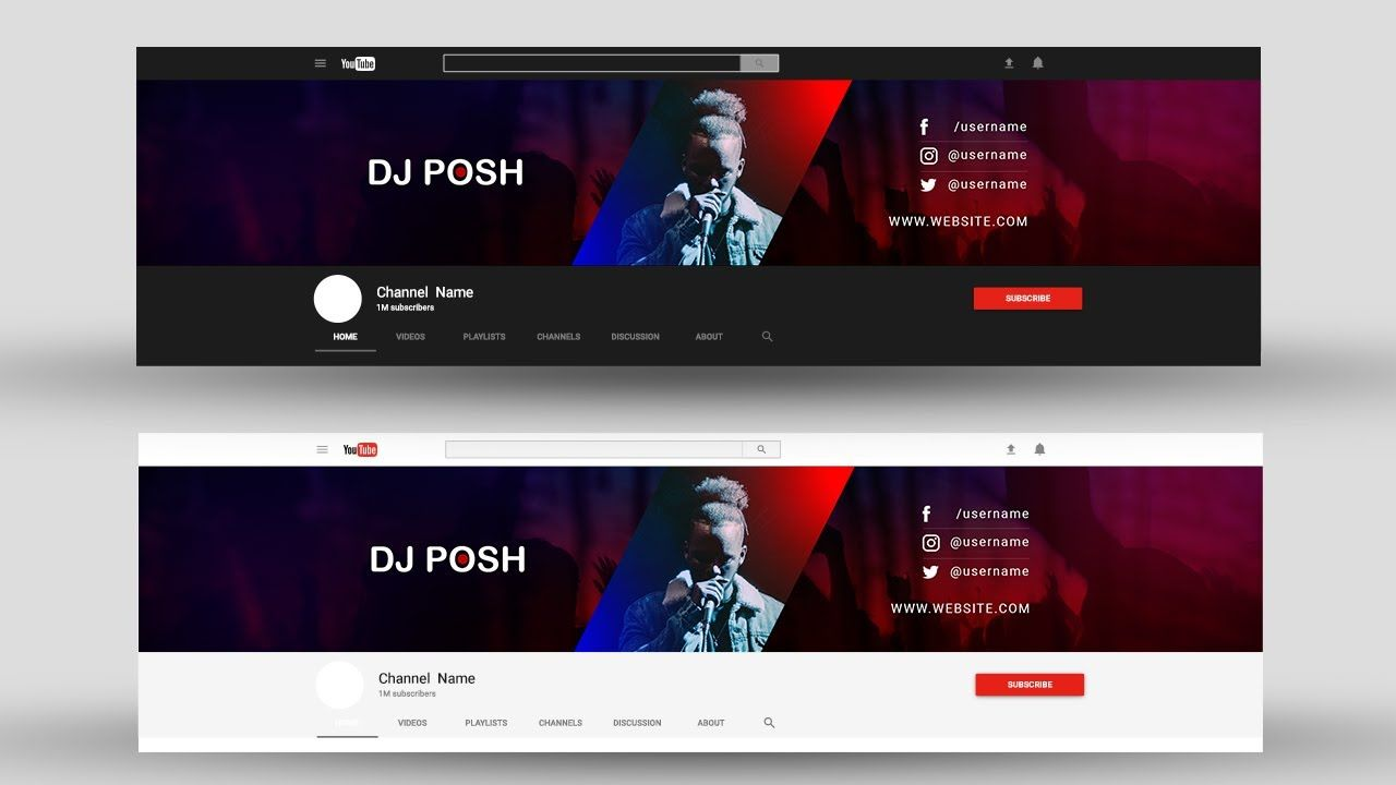How To Make Professional Youtube Banner Youtube Channel Art In Photosh Youtube Banner Design Photoshop Tutorial Design Youtube Banners