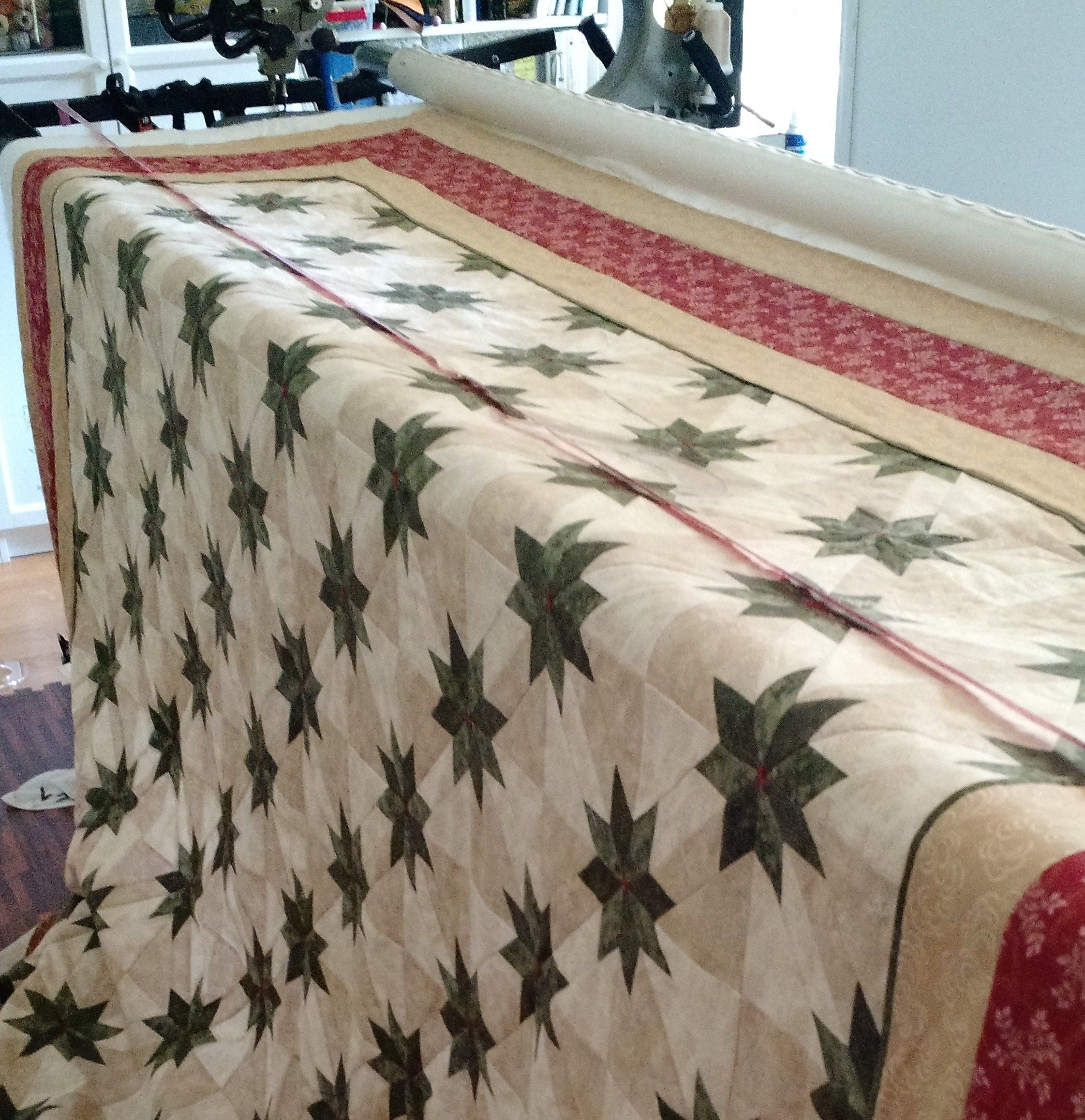 how to quilt a hunter star quilt tutorial large feathers hunters