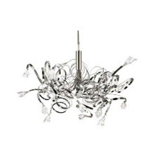 PLC Lighting Modern Chandelier in Satin Nickel Finish | 6046SN | Destination Lighting
