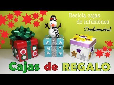 Cajas de regalo originales manualidades f ciles de navidad - Cajas de carton de navidad ...