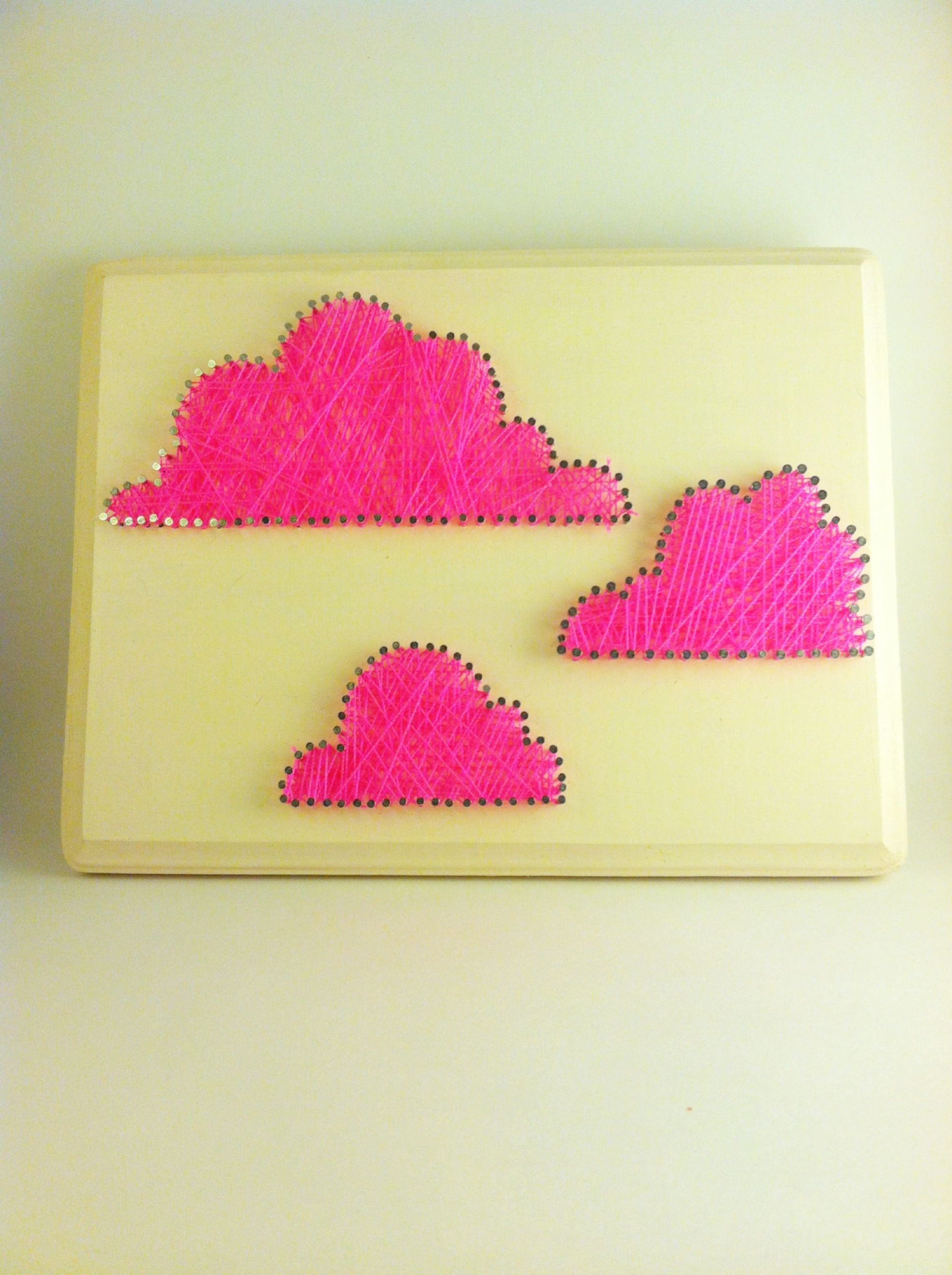 Neon Pink clouds string art   The Confetti Committee   Pinterest ...