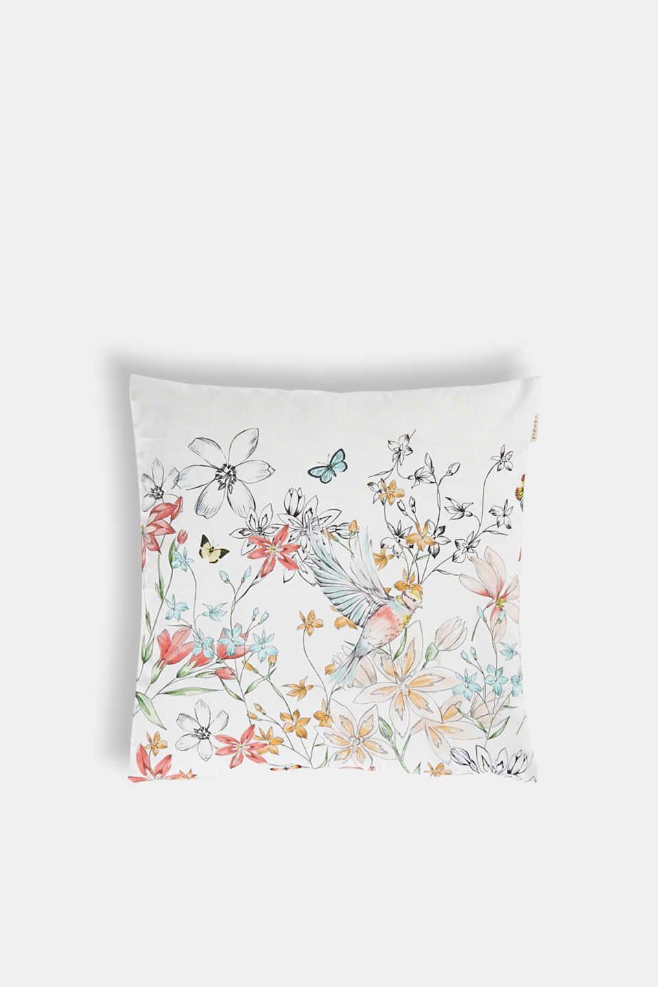 Esprit Digital Bedruckte Kissenhulle Mit Blumen Kissenhullen