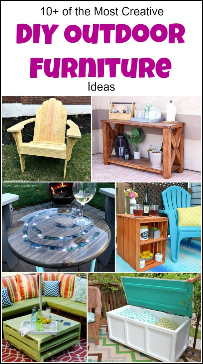 10 of the most creative diy outdoor furniture ideas solutioingenieria Image collections