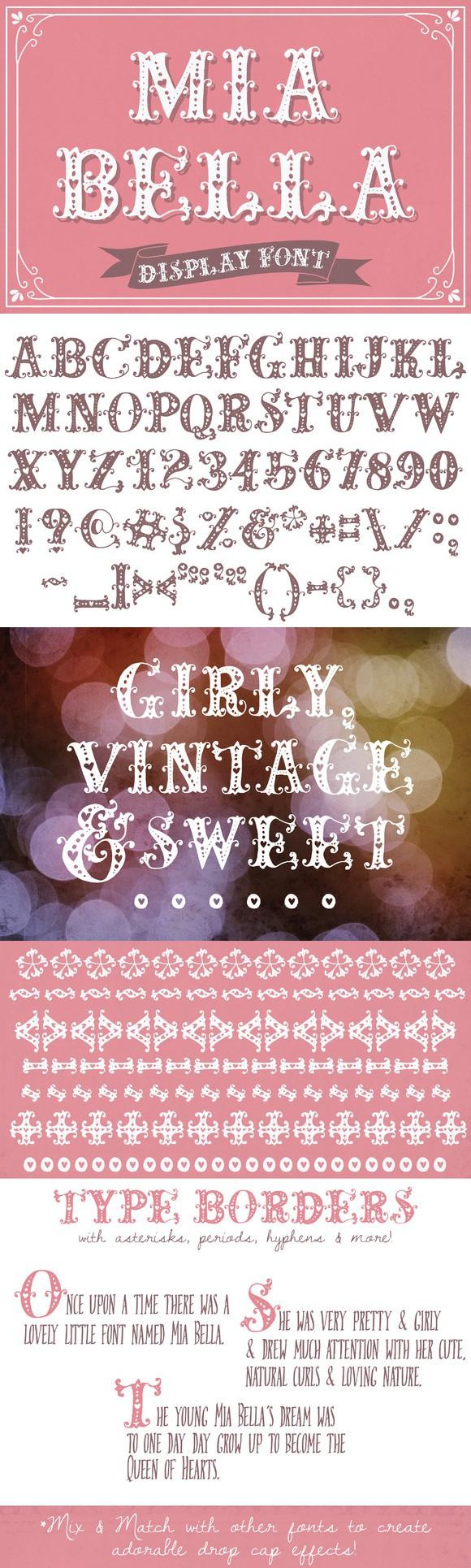 Mia Bella Font Whimsical fonts, Romantic fonts