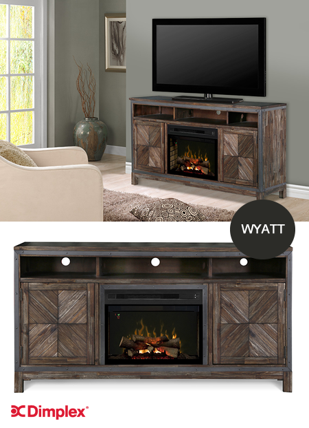 NEW Wyatt Electric Fireplace Media Console -Handcrafted in ...