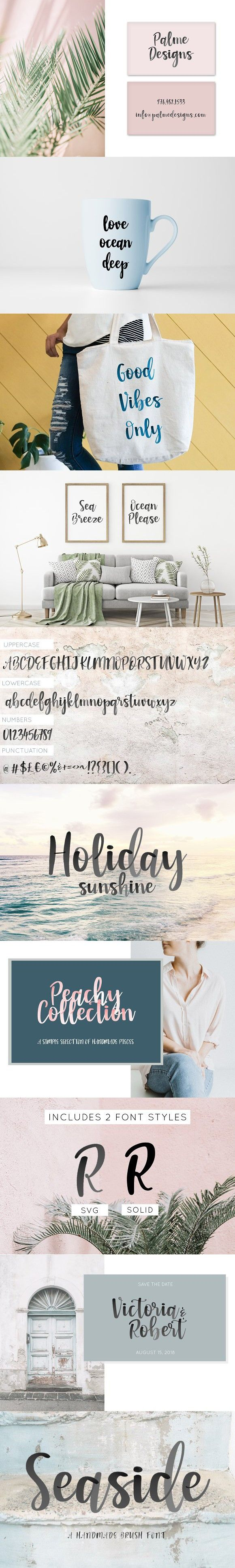 New Seaside Font Watercolor Svg Romantic Fonts Seaside Cool
