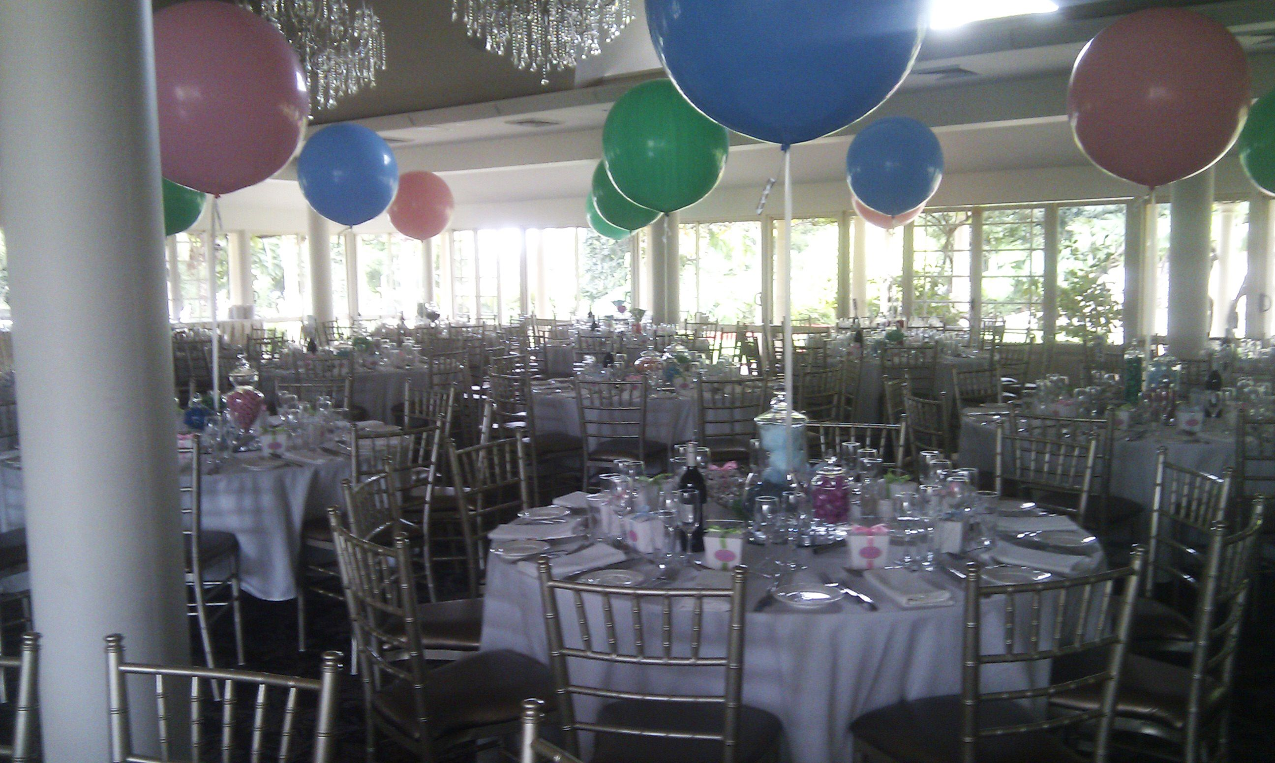 Round Function Tables 3ft Round Latex Balloons As Table Arrangements For A Corporate