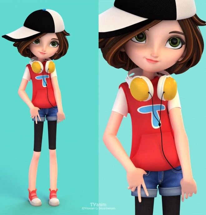 Cartoon Characters 50s : Funny cartoon characters and d models design
