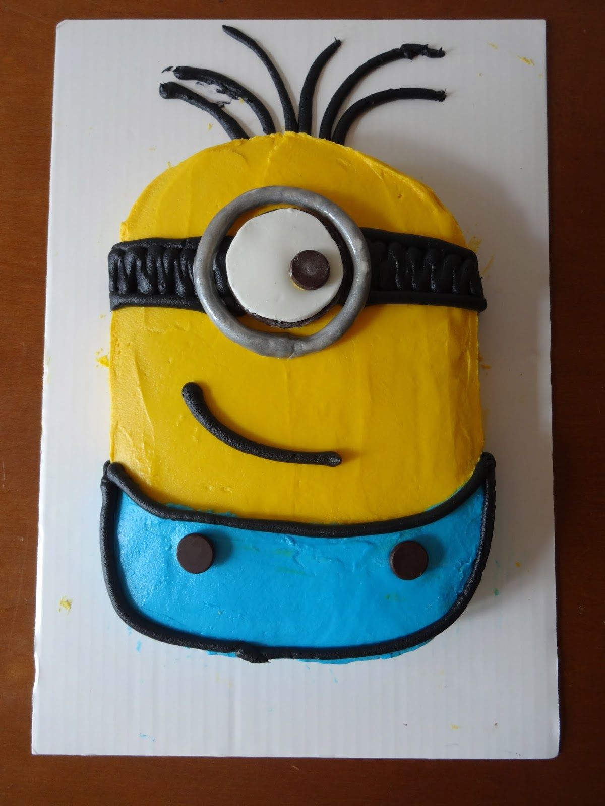minion cake Isaac wants to try the kids Pinterest Minion cakes
