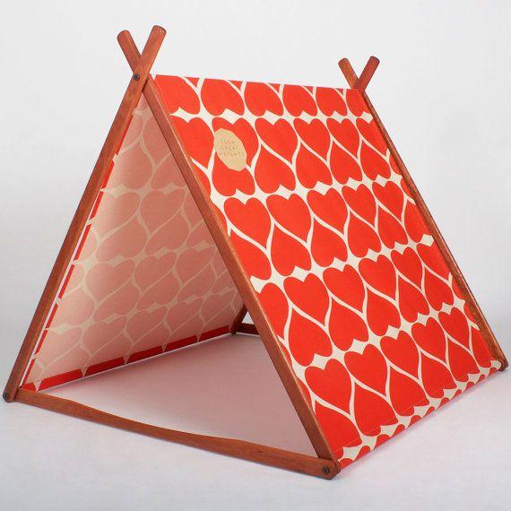 Kimono Red Grand Hearts 'Wonder Tent' Organic por SGHstore en Etsy, $279.00