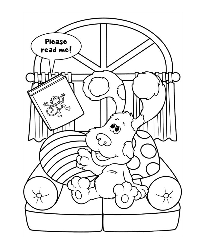 Blue Clues Coloring Pages Cartoon Coloring Pages Coloring Pages Nick Jr Coloring Pages