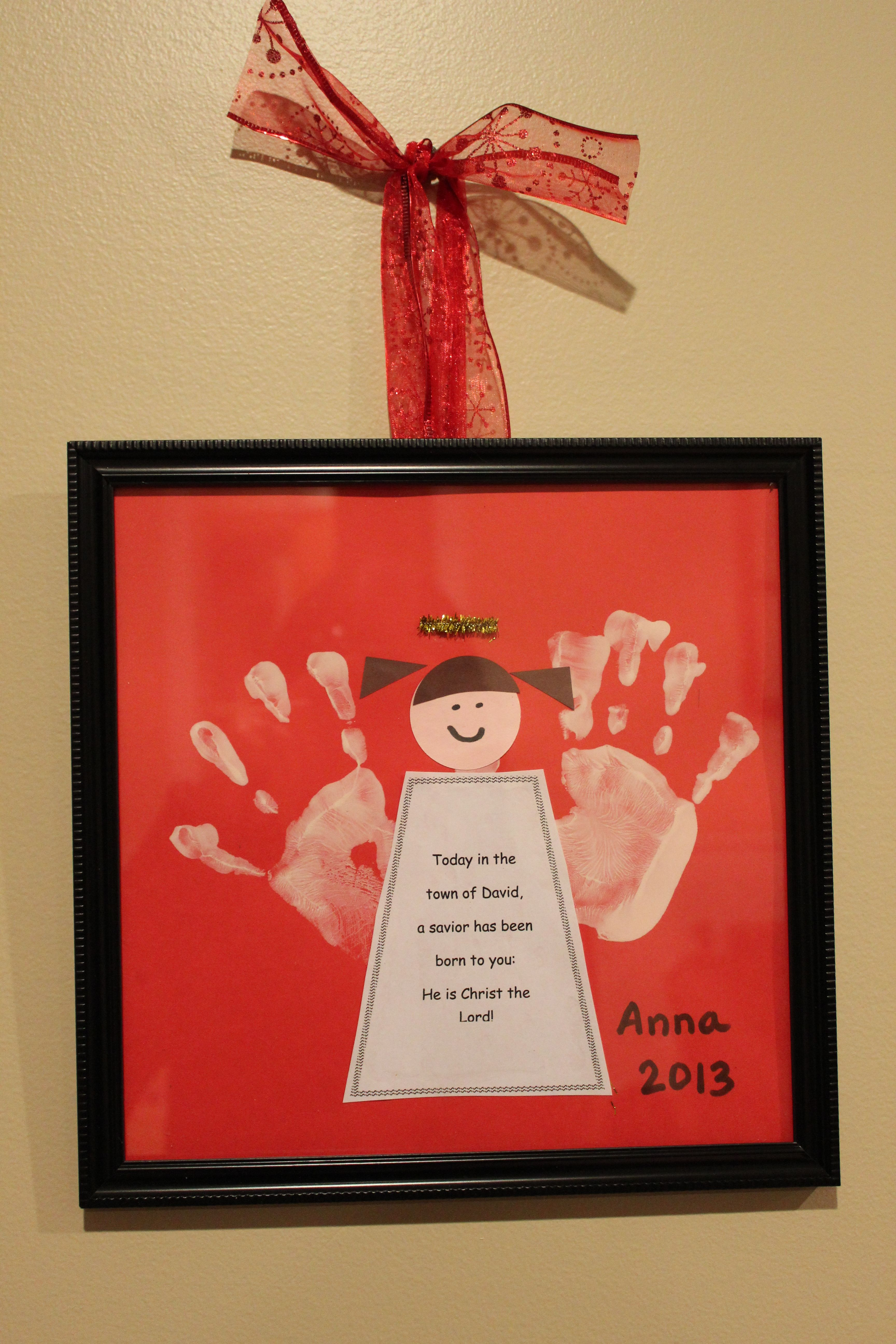 Angel craft for Christmas! Great for the toddler room at