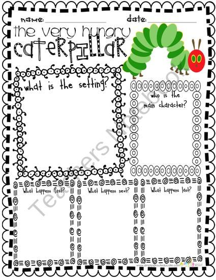 Retell the story of The Hungry Caterpillar with this Graphic Organizer from Simply Sprout on TeachersNotebook.com (3 pages)