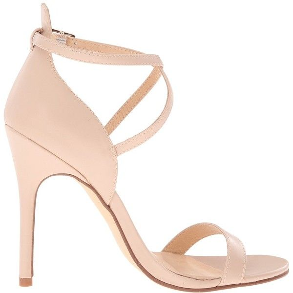 Chinese Laundry Lavelle Nude Velvet High Heel Sandals