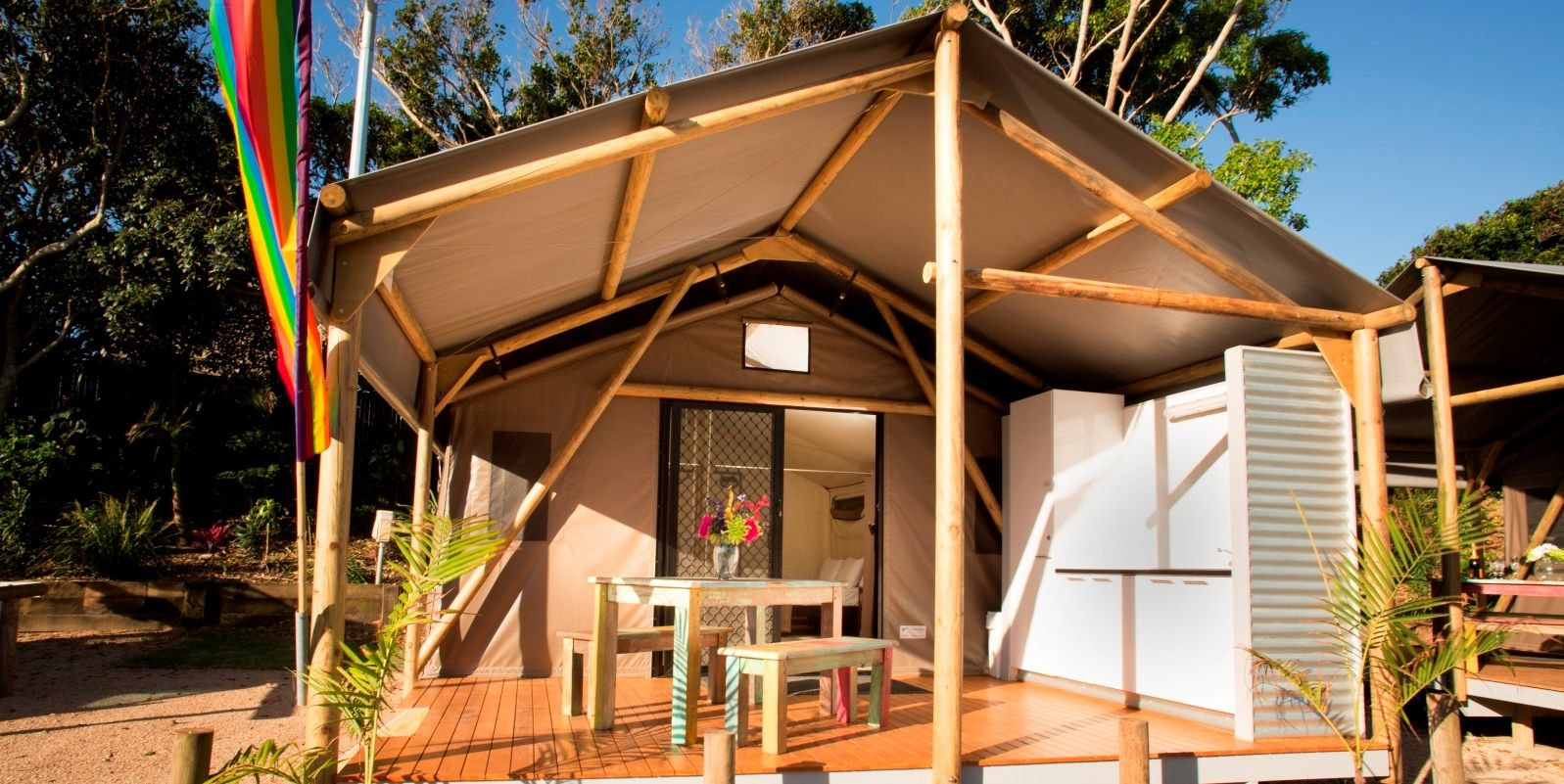 Are you looking for Safari Tents for Sale in QLD u0026 NSW? Undercover Safari Tents are leaders in Permanent Gl&ing Tents in Australia. & These Koppers Log Canvas Safari Tents are seriously impressive ...