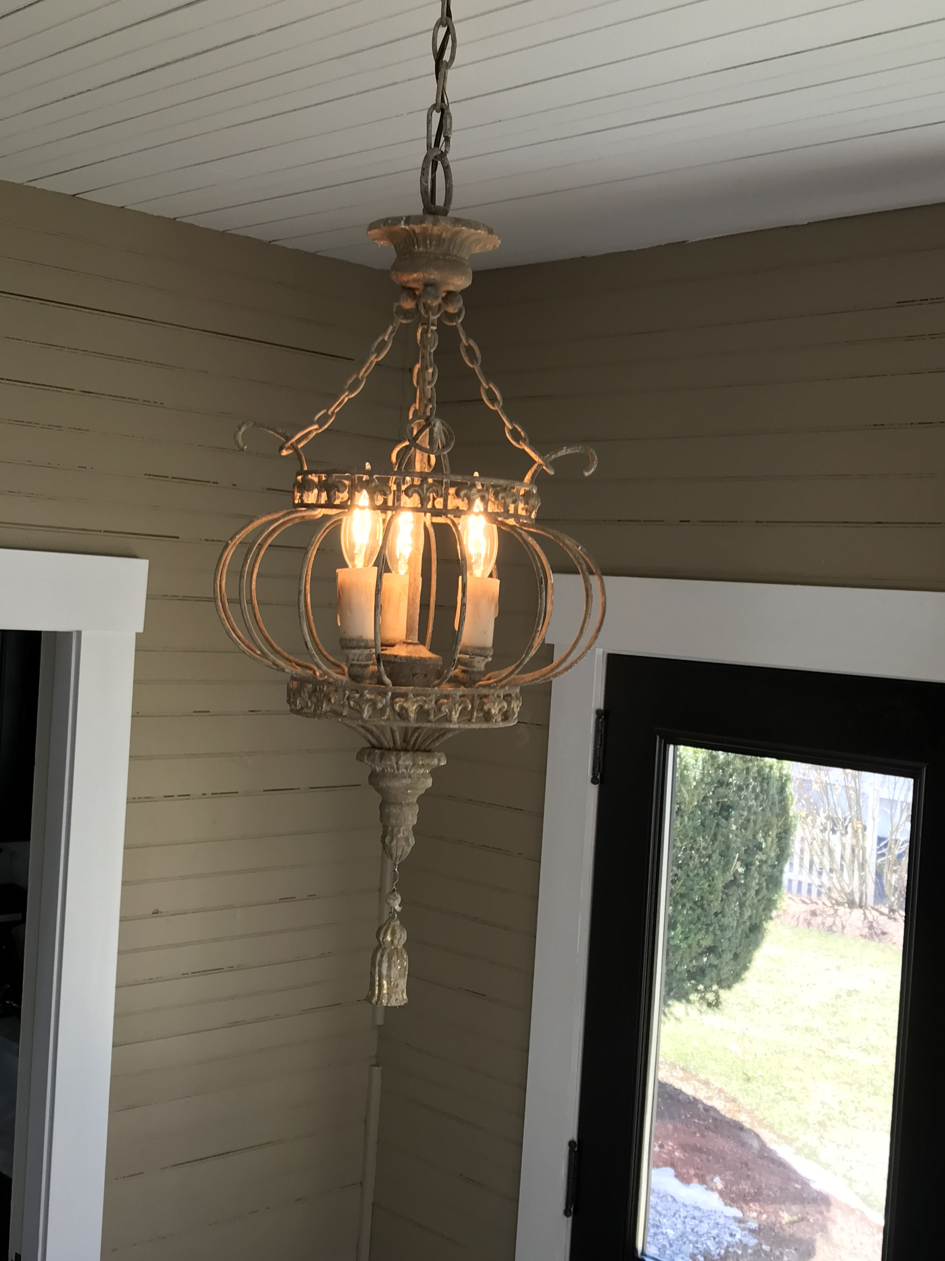 French country sunroom. Lighting
