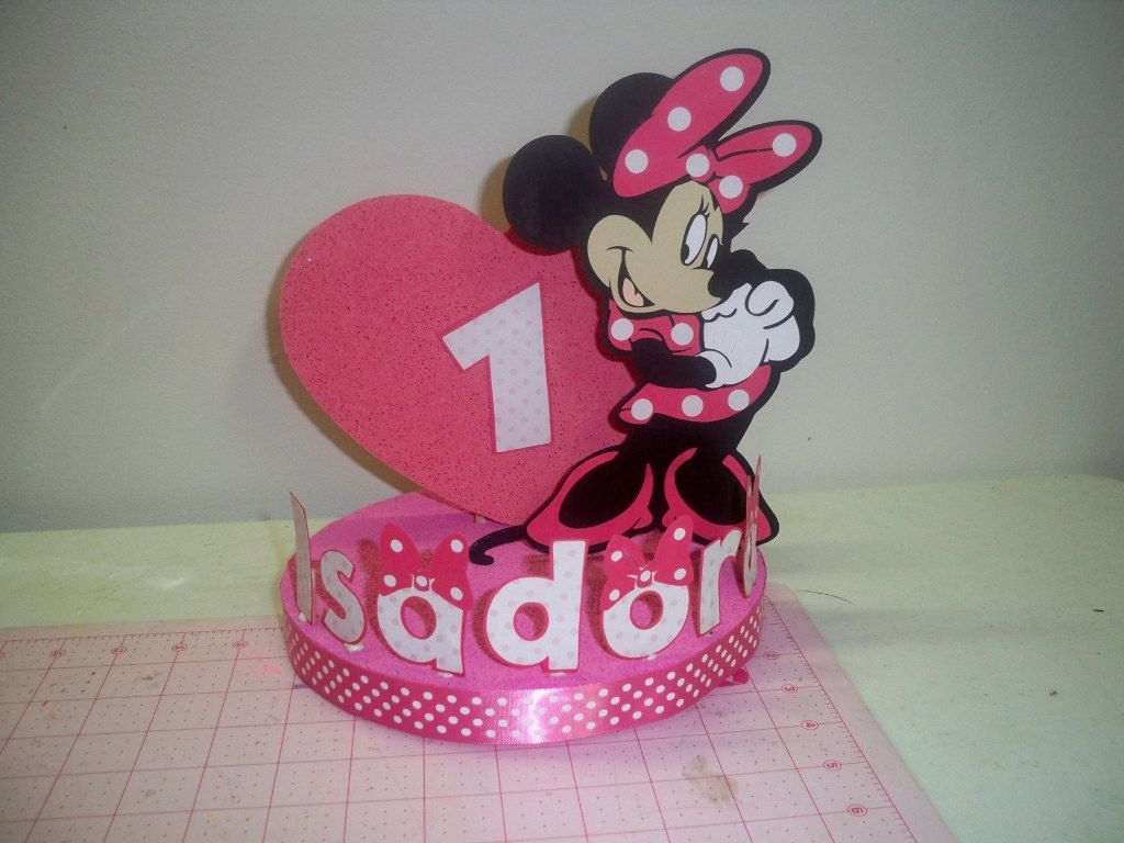 MINNIE MOUSE BIRTHDAY cake topperparty decoration 3000 via