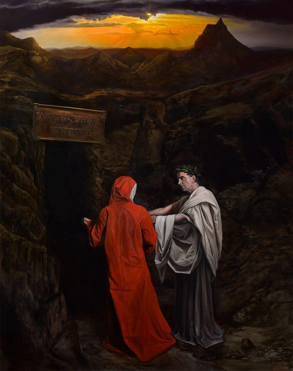 Pin Su Dante S Inferno Painting Series