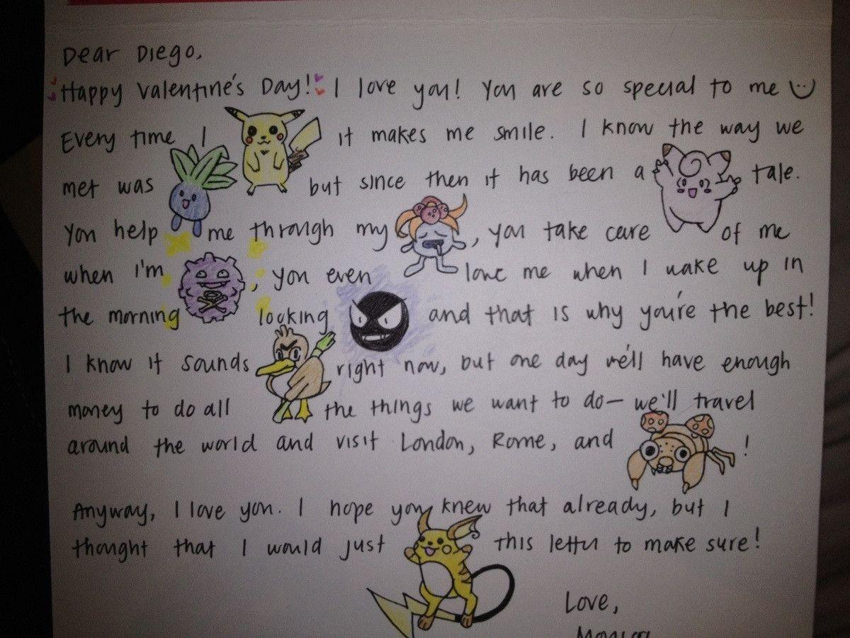 Pokmon Love Letter  So Cute  Pokemon  Pinterest  Pokmon