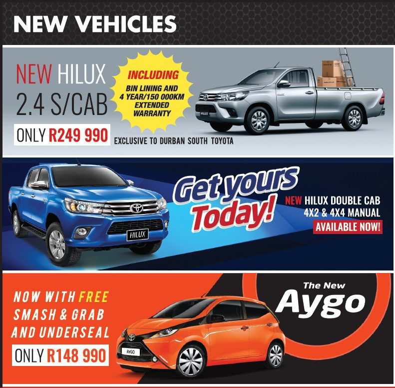 Durban South Toyota On Sale Specials View Our New Car Sales