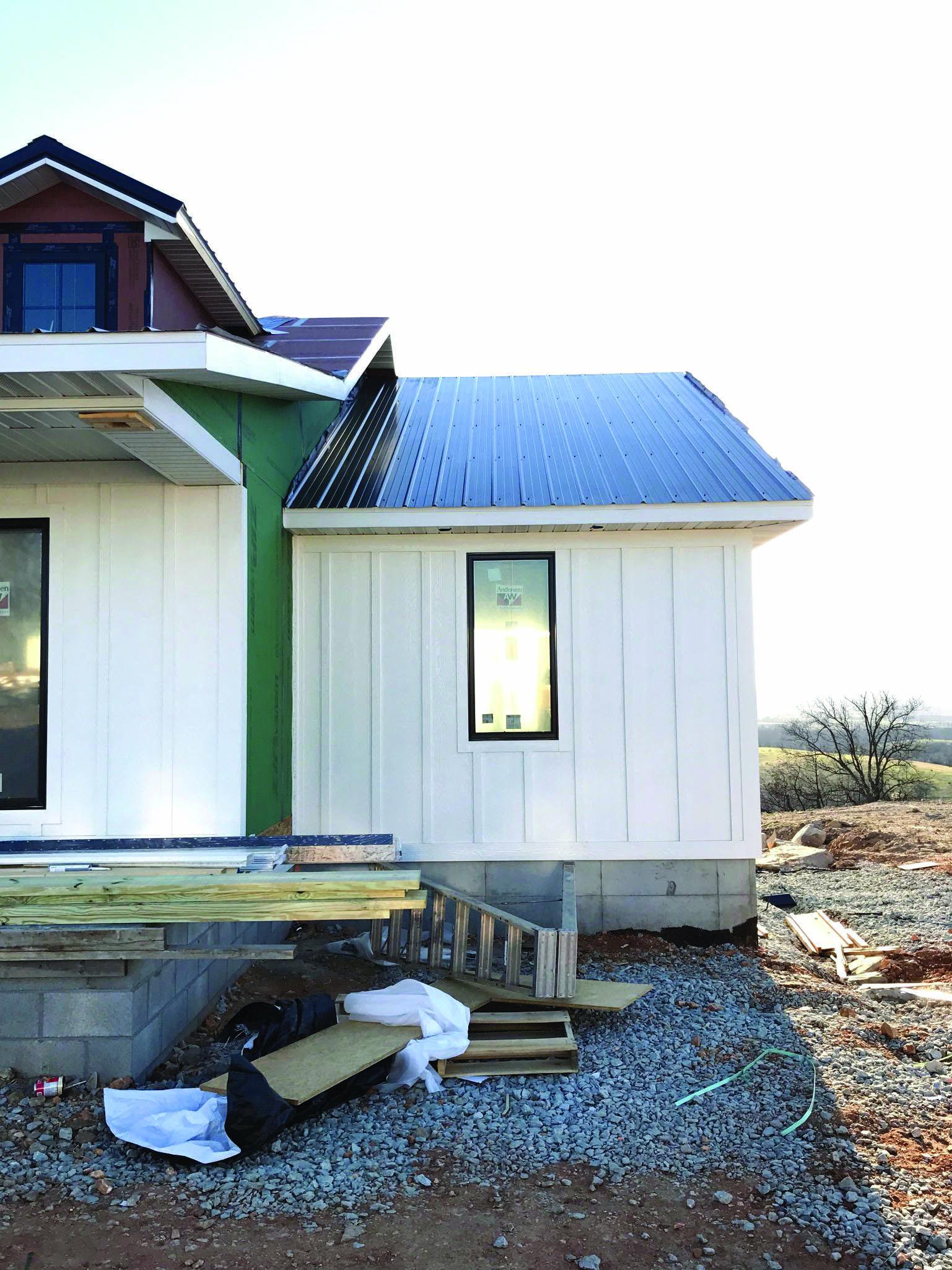 Metal Roofing Metal Siding House Black Metal Roof White Siding