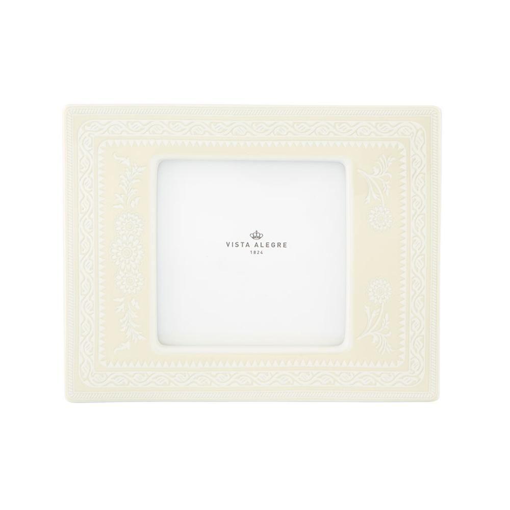 Vista Alegre Porcelain Ivory Large Square Picture Frame
