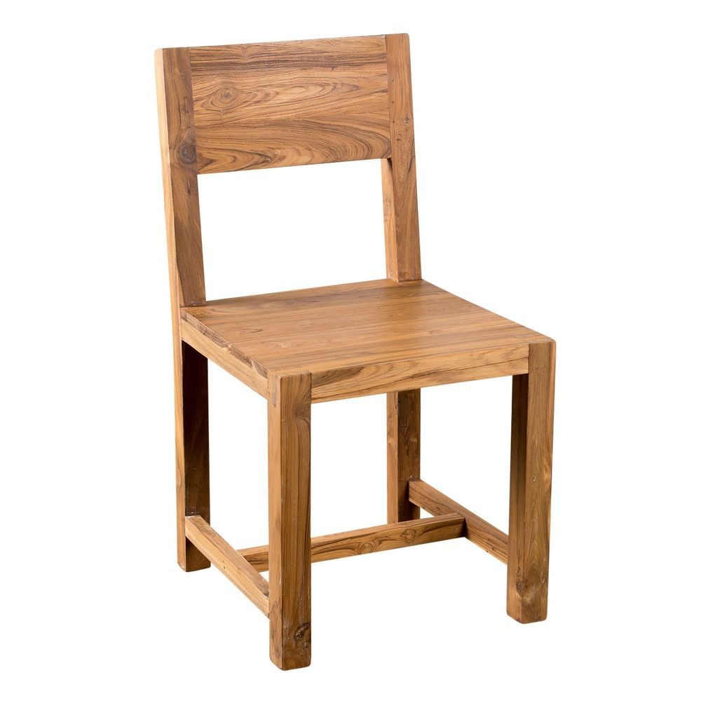 Simple Dining Chair Reclaimed Teak India With Images Solid