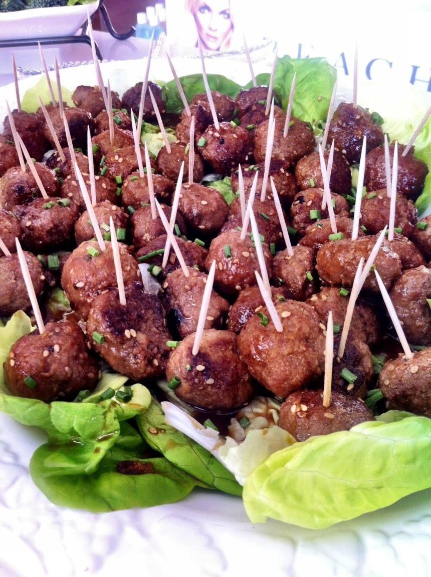 Mandy's Small BeachCandy Bites today! Asian Turkey Meatballs