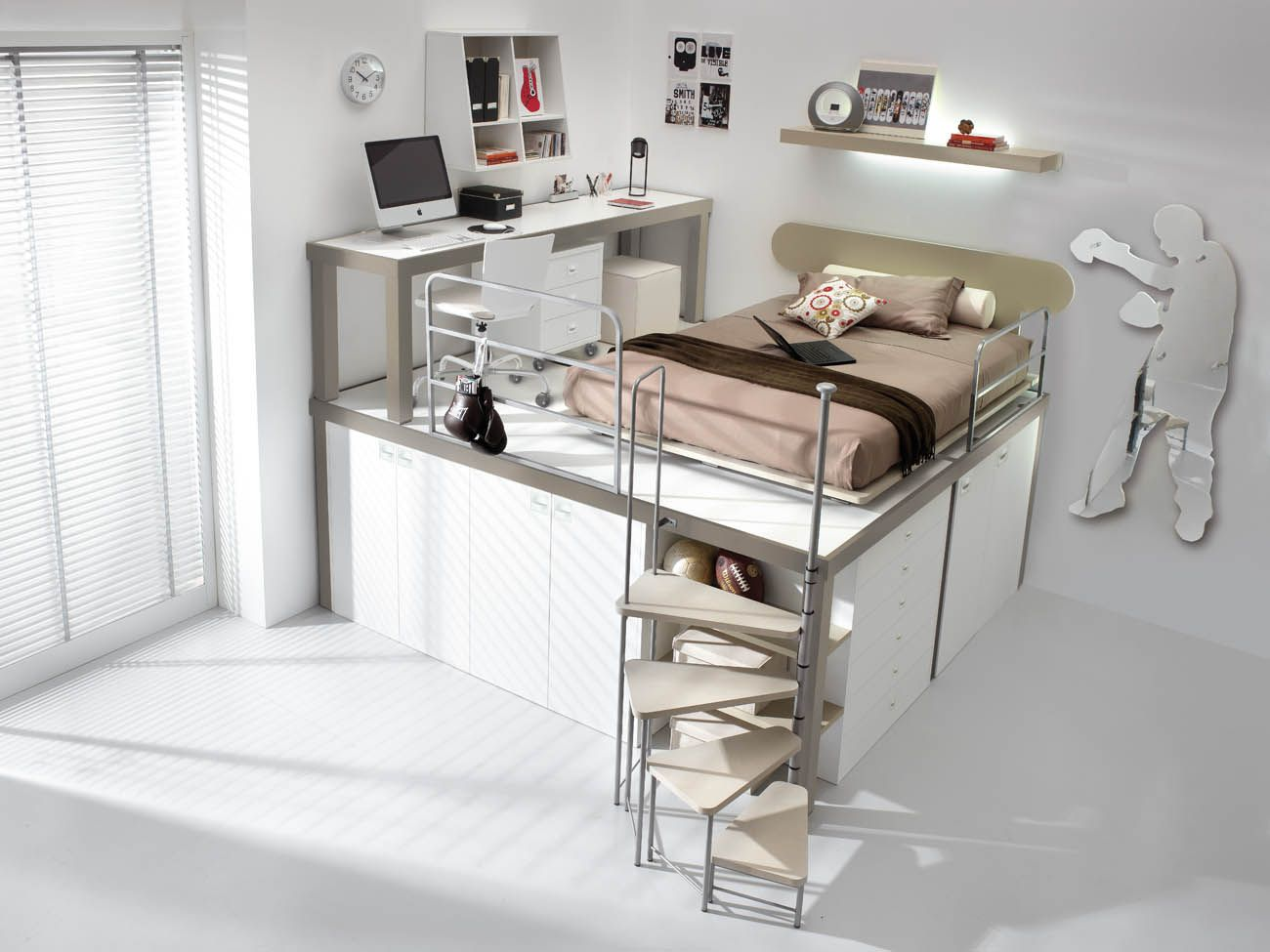 Loft bed with desk ideas Tumidei Spa could you image a dorm room like tthis  Ideas for the