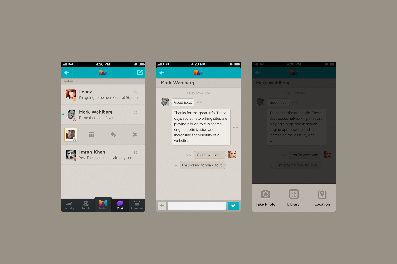 an app (chat) | Messaging & Forum UIs | Pinterest | App, Mobile ui ...