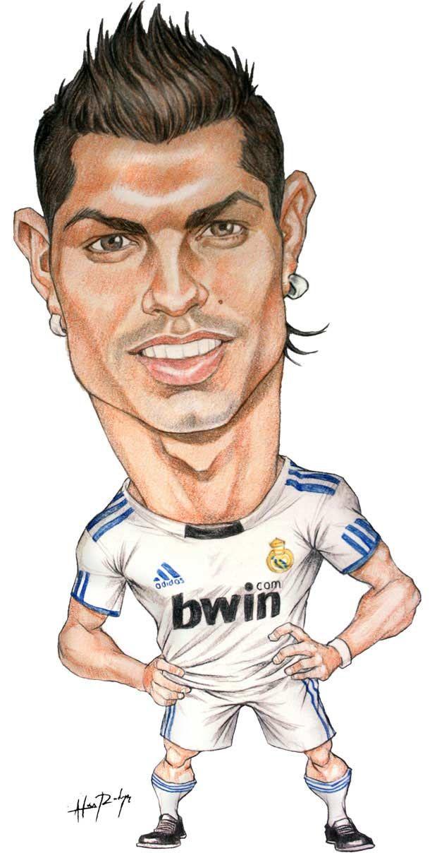 Caricaturas De Cristiano Ronaldo Soyunalbondiga Caricaturas Divertidas Caricaturas De Famosos Caricaturas