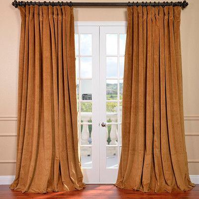Half Price Drapes Gray Signature Double Wide Velvet Rod Pocket Curtain  Single Panel | Wayfair