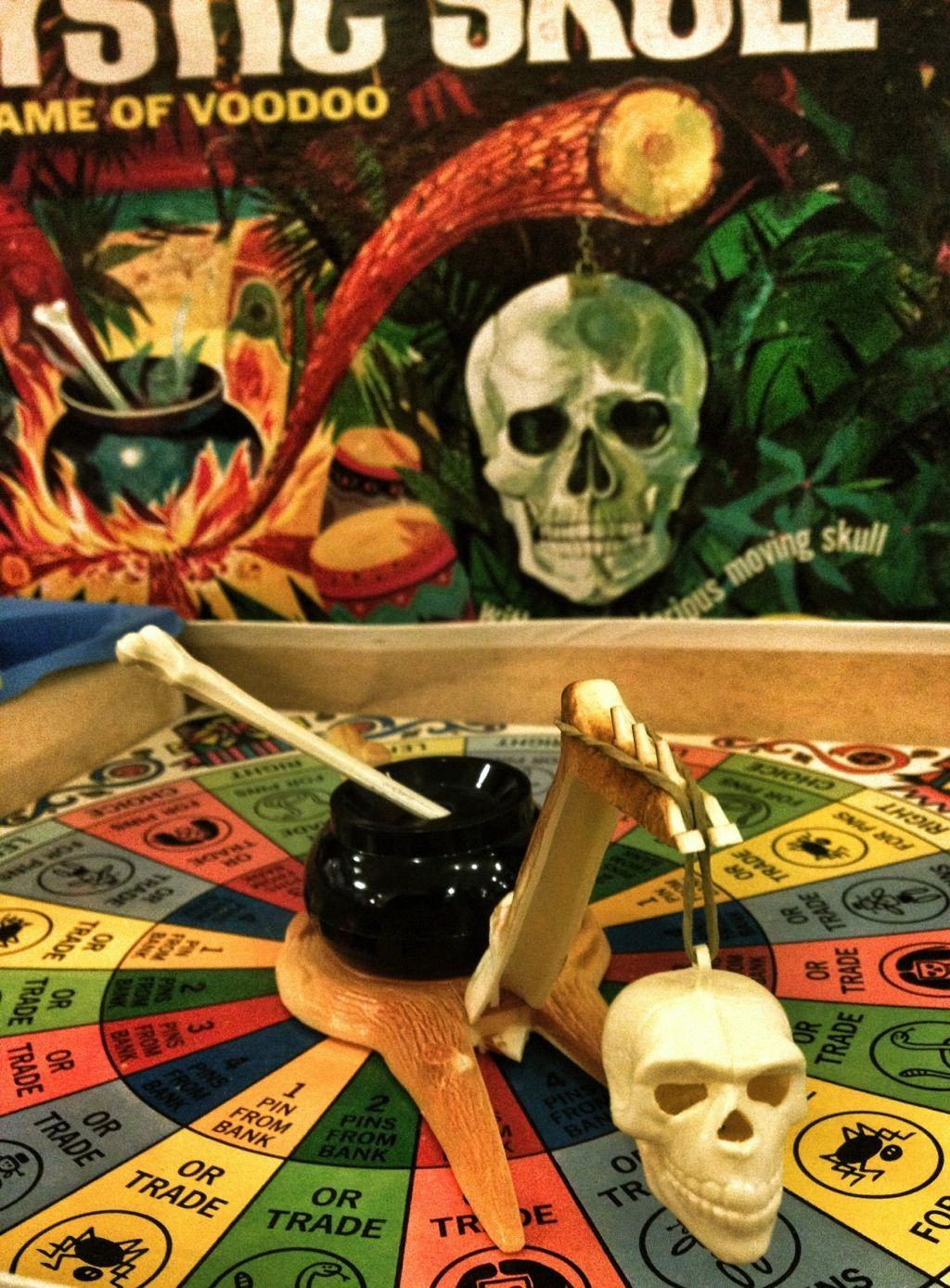 Mystic Skull board game, 1960s Board games, Vintage