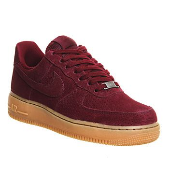 581a63cfdf61 Nike Air Force 1  07 Prm Wmns Deep Garnet Gum Suede - Hers trainers ...