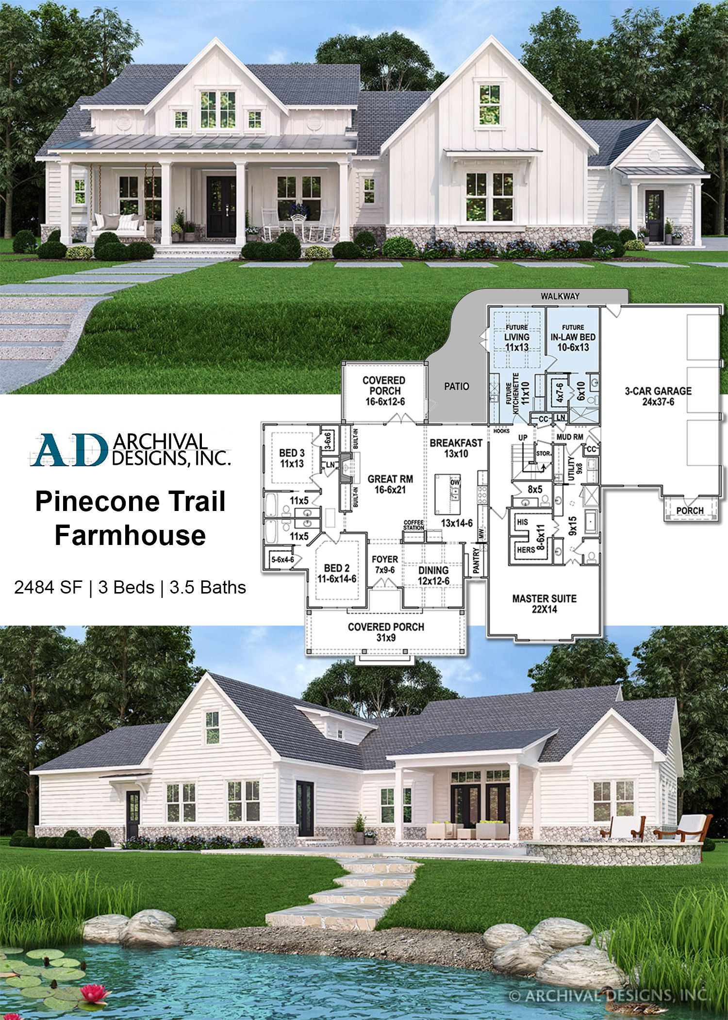 Pinecone Trail House Plan House Plans Farmhouse House Plans Farmhouse Plans