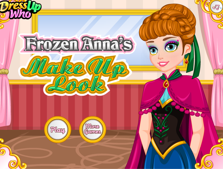 Anna Makeup, Frozen Makeup, Anna Frozen, Disney Frozen, Princess Games, Play