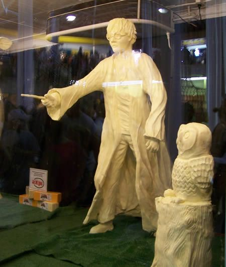 Butter Art Carved Completely Out Of Butter Amazing Food Art