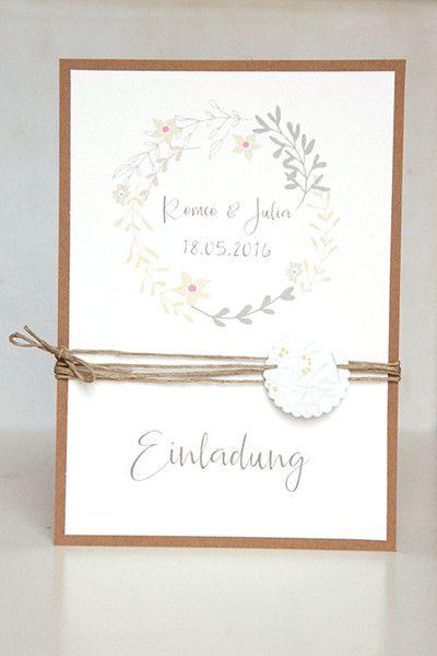 vintage wedding einladung hochzeit diy pinterest einladungen hochzeit einladungen und. Black Bedroom Furniture Sets. Home Design Ideas