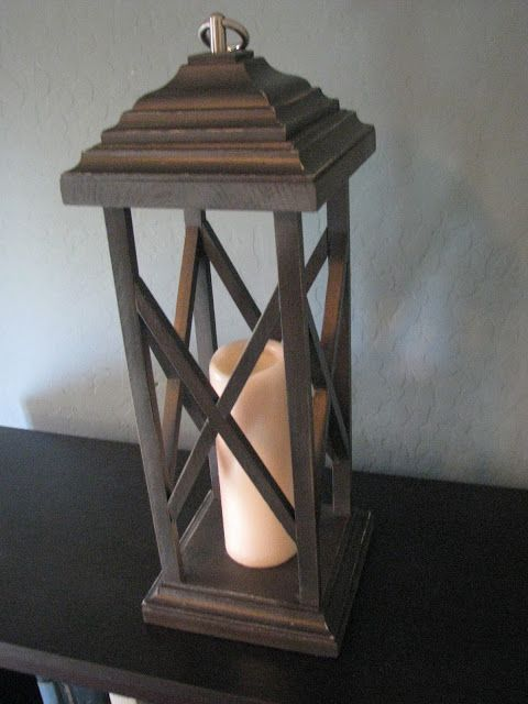Rustic wooden lanterns think i cld make one of these for Crafting wooden lamps