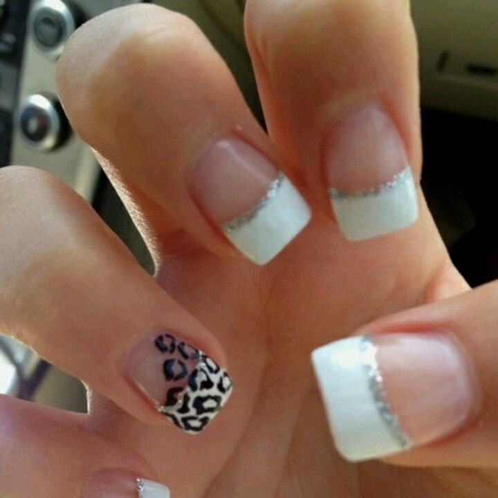 white tips with cheetah