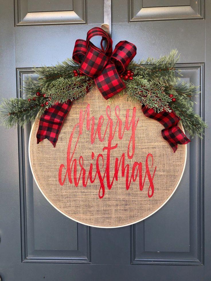 Photo of Ich freue mich darauf, diesen Artikel aus meinem #etsy-Shop zu teilen: Christmas Wreath, Hoop…