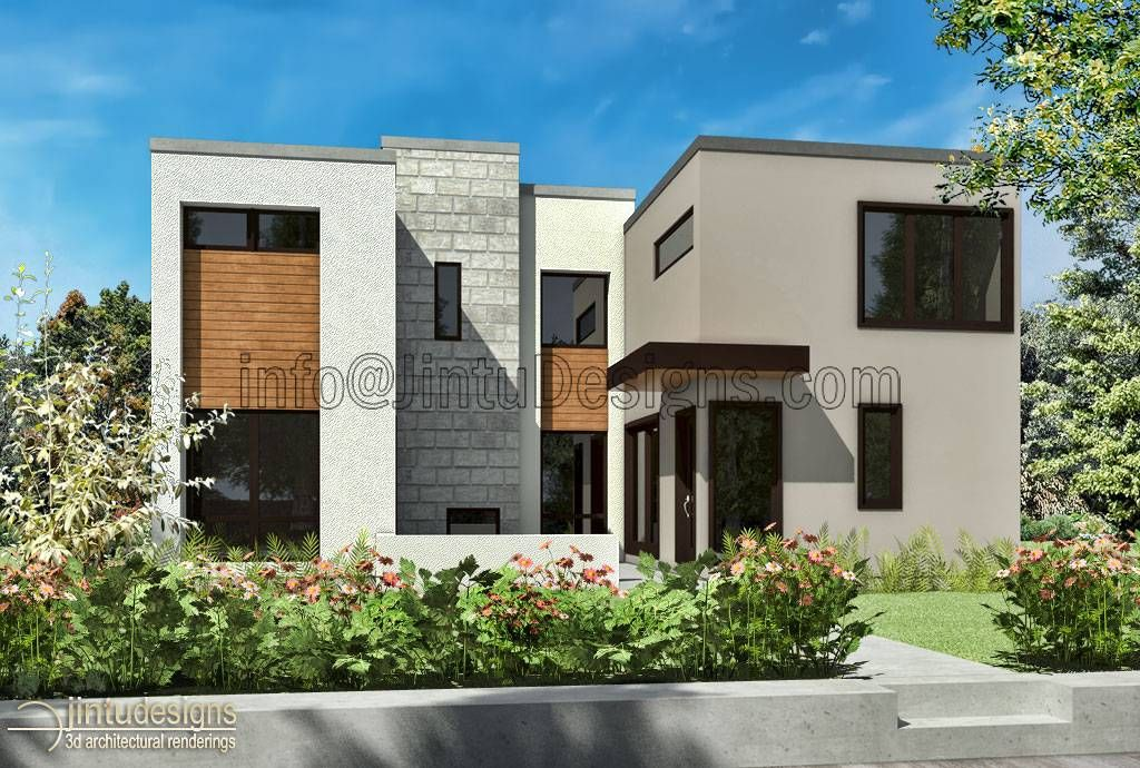 Architectural Artist Impression Low Cost 3d Residential Renderings Contemporary House Exterior Contemporary House Design Contemporary House Interior Design