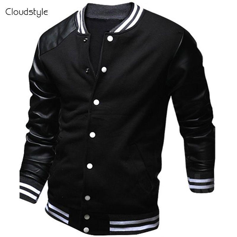 haut de gamme authentique correspondant en couleur comment choisir Cool College Baseball Jacket Men 2017 Fashion Design Black ...
