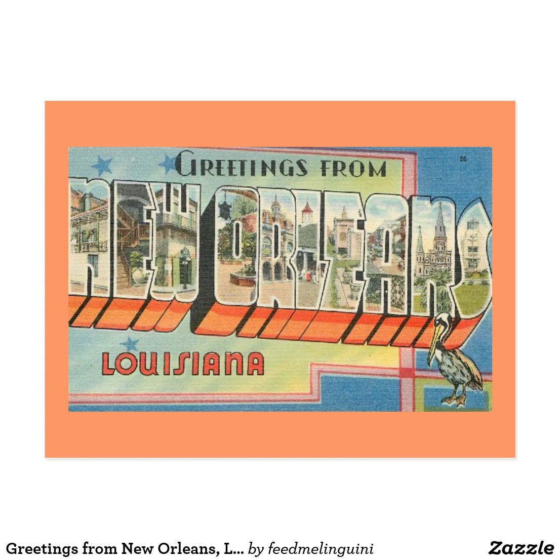 Greetings From New Orleans Louisiana Postcard Pinterest