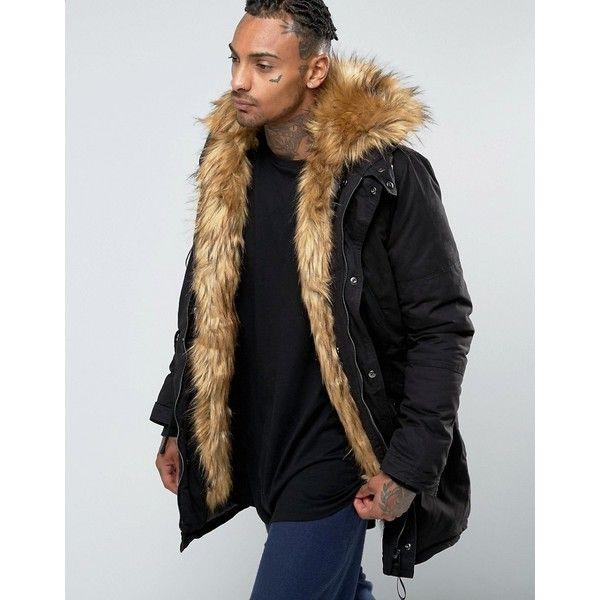 Mens Parka Fur Lined Hood