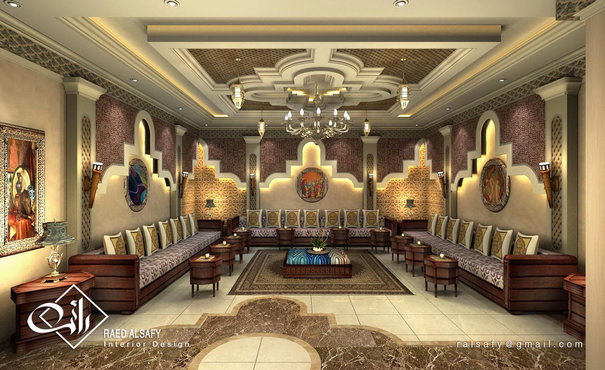 3d architectural visualization user community majlis for Arabic interiors decoration